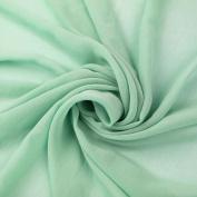 Green Mint Solid Hi-Multi Chiffon Washed