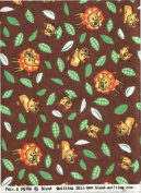 Lions, Lioness, Big Cat Print Flannel ~ HALF YARD ~ Quilt Fabric by Blank Quilting F6708 Brown Zoo Fest Flannel Quilt Fabric 100% Cotton 110cm Wide