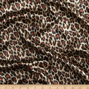 Satin Charmeuse Meow Cheetah Sienna Fabric By The YD