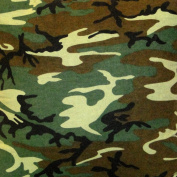 Made in America -NuAngel Green Camo Fabric by the Yard - 120cm - Cotton Poly Blend