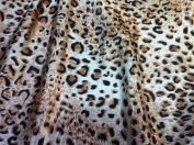 Brown/beige/black Leopard Print Charmeuse Satin Fabric 150cm By the Yard