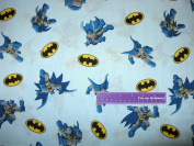 110cm Wide BATMAN Logo Toss Cotton Fabric BY THE HALF YARD