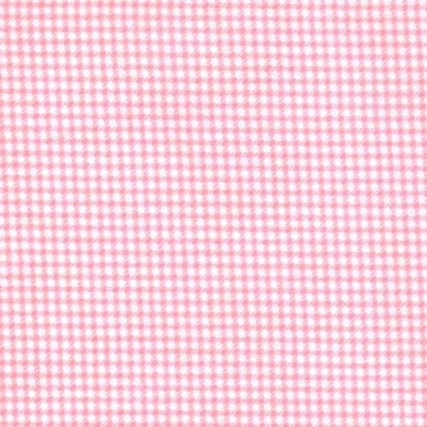 Pink Gingham 100% Cotton Flannel Baby Fabric By the Yard Made in USA