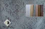 Fantastic Sheer Palazzo Medallion Fabric, Colour Antique Blue, 140cm , Content