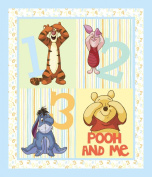 Springs Creative - Fabric Disney Pooh Nursery Pooh Peekaboo Wall Hanging Fabric, Sold by The Yard, 2.5cm , Multi-Coloured