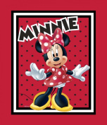 Springs Creative - Fabric Disney Mickey Everyday Minnie Loves to Shop Panel Fabric, Sold by The Yard, 2.5cm , Red