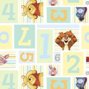 Springs Creative - Fabric Disney Pooh Nursery Pooh Hide and Seek Fabric, Sold by The Yard, 2.5cm , Multi-Coloured