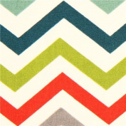 colourful chevron pattern organic knit fabric birch USA