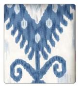 Ikat Fabric By The Yard 140cm Robert Allen Khandar Blue & White