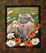 Flo Flo Cat in Garden Toni Whitney Designs Applique Quilt Pattern