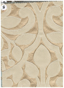 Lillian Collection Fabric, Floral Design Colour Champagne 150cm Sold By the Yard