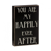 "Collins ""Happily Ever After"" Decorative Box Sign for Freestanding/Wall Display, 6 by 3.8cm by 23cm"