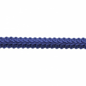 Braid 25-Yard Polyester Roll for Arts and Crafts, 1.3cm Wide, Navy