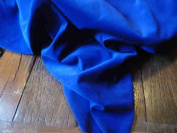 Royal Blue Light Weight Dressmaking Cotton Velvet / Velveteen - 110cm - 210ml/yd²