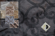 Elegant Leiden Fabric, Colour Black, 150cm 100% Polyester, Sold By the Yard