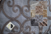 Elegant Leiden Fabric, Colour Slate, 150cm 100% Polyester, Sold By the Yard