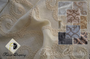 Elegant Leiden Fabric, Colour Natural, 150cm 100% Polyester, Sold By the Yard