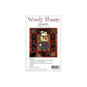 Woolly Sheep Wall Hanging Quilt Kit-33cm x 38cm