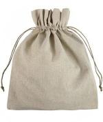 30cm x 36cm Natural Linen Favour Bags - 12 Pack