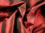 150cm wide Plain Shot Taffeta Dress Fabric Wine - per 2 metres