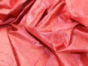 140cm wide Creased Lame Metallic Dress Fabric Red - per 2 metres