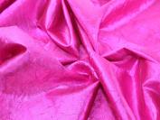 140cm wide Creased Lame Metallic Dress Fabric Cerise Pink - per 2 metres