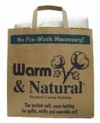 Warm & Natural Cotton Batting Twin Sized