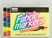 Colortime Crafts and Markers Fabric Markers Economy Pack - Primary