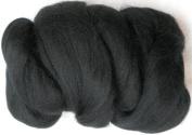 Woolpets felting roving wool black