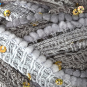Patons Pirouette Yarn (84046) Silver Sparkle