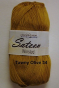 Sateen Worsted Yarn #34 Tawny Olive by Cascade Yarns