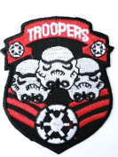 STAR WARS Storm Trooper Clone Shield Iron On Sew On Embroidered Patch