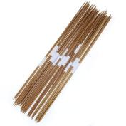 11 x 4pcs 35cm Bamboo Knitting Needles Double Pointed Sizes 2.0-5.0mm
