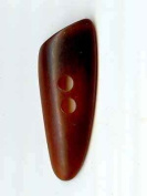 Lantern Moon Buttons, Triangle Horn; amber 5.7cm