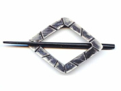 Buttons.etc Exotic Shawl Pins, 30501 - Black Shell Diamond