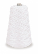 Trait-tex 4-Ply Jumbo Roving Yarn Refill Cone, White, 87 Yards