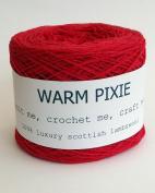 Luxury 100% Soft Scottish Lambswool - Red - For Hand & Machine Knitting, Crochet and Crafting.