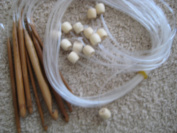 """14 size 48"""" BrilliantKnitting (BR brand) Bamboo Tunisian Afghan crochet hooks with extension (3 mm - 12.0 mm) US size D to P"""