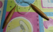 "Bamboo Circular Knitting Needles Size US 17 (12.0 mm) Brilliant Knitting (BR brand), length 16"" inches"