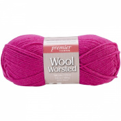 Premier Yarn 3-Pack Wool Worsted Yarn, Raspberry