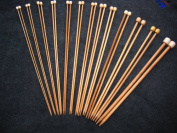 13 size BrilliantKnitting (BR brand) single pointed bamboo knitting needles US 0-11. 9 inches (23cm) in length