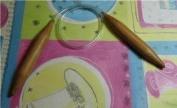 "Bamboo Circular Knitting Needles BrilliantKnitting (BR brand) Size US 19 (15 mm), length 16"" inches"