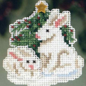 Winter Bunnies - Beaded Cross Stitch Kit MH183303
