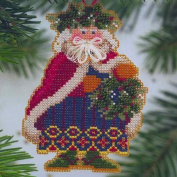 Holly & Ivy Santa - Cross Stitch Kit