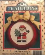 Santa with Tree Cross Stitch Kit - Traditions - T8908