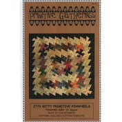 Itty Bitty Primitive Pinwheels Pattern ~ Pinwheel Tool Quilting Template Ruler by Primitive Gatherings ~ 2.5cm Finished Pinwheel ~ 25cm Finished Block