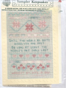 THE NEEDLE'S ART--SAMPLER KEEPSAKES--COUNTED CROSS STITCH PATTERN WITH CARD BY GLORIA & PAT--NIP