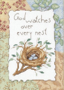 Dimensions Needlecrafts Counted Cross Stitch, God Watches Every Nest