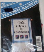This Kitchen Is Condemned Towel Magnet Craft Kit