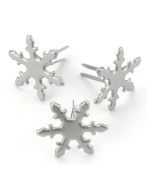 Creative Impressions Metal Paper Fasteners 50/Package, Pewter Snowflakes